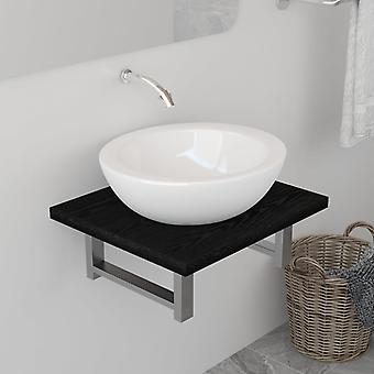 vidaXL Kylpyhuoneen huonekalut Musta 40×40×16,3 cm