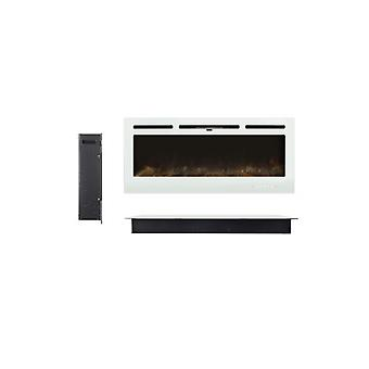 12 Flamer Wall Mounted Electric Fireplace With Touch Screen And Remote Control