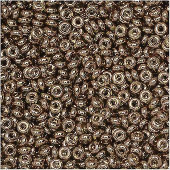 توهو ديمي جولة الخرز البذور، رقيقة 11/0 (2.2mm)، 7.8 غرام، #204 الذهب لامع مونتانا الأزرق
