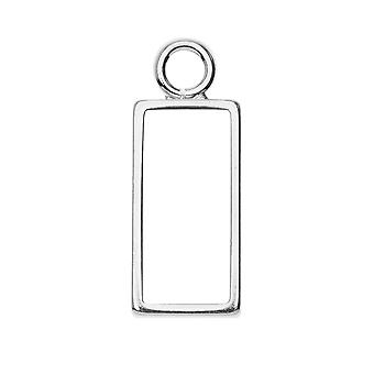 Avaa takakehyksen riipus, suorakulmio 9,5x25mm, 1 kpl, kirkas hopea, nunn design