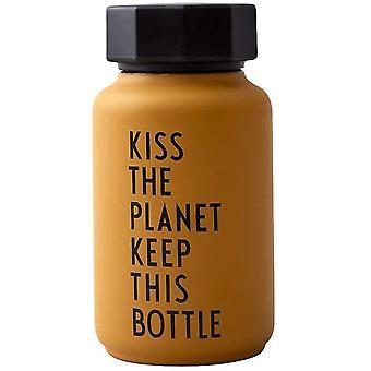 Wokex Thermo/Isolierflasche, Special Edition, Klein (Senffarben) - BPA-frei doppelwandiges Vakuum,