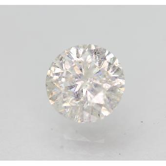Sertifioitu 0,93 karat G SI3 pyöreä brilliant parannettu luonnollinen löysä timantti 6,07mm