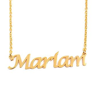 KLマリアムカスタム名ゴールドメッキネックレス18カラット調整可能チェーン16 19センチ。