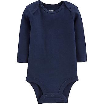 Simple Joys by Carter's Boys' 5-Pack Long-Sleeve Bodysuit, Solids, 6-9 Months