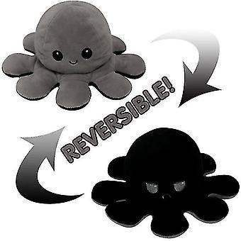 Flip octopus doll de doble cara flip doll octopulush toy fácilmente volteado en diferentes expresiones de colores pl-1292