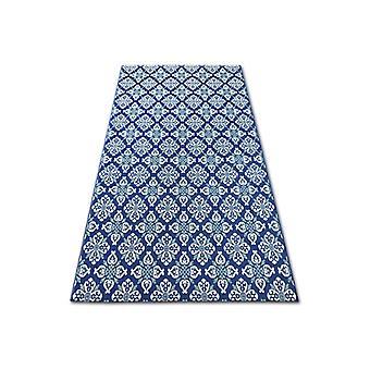 سجادة اللون 19246/699 SISAL الزهور الزرقاء