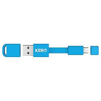 Kero Nomad Micro USB naar USB 2.0 sleutelhangerkabel - Blauw
