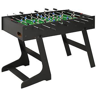 Fußballtisch zusammenklappbar 121X61X80 Cm Schwarz