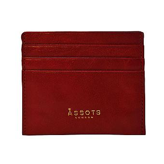 Assots London FANN Credit Card Holder in Red Size 10x8cm