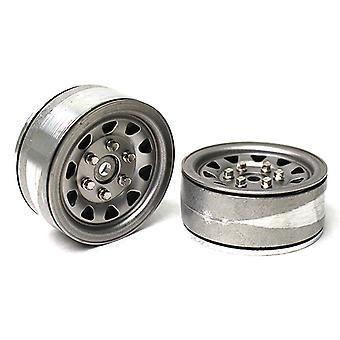Gmade 1,9 Sr04 Beadlock Hjul (Ubestrøget Sølv) (2)
