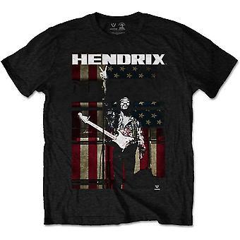 Jimi Hendrix - Peace Flag Men's Medium T-Shirt - Black