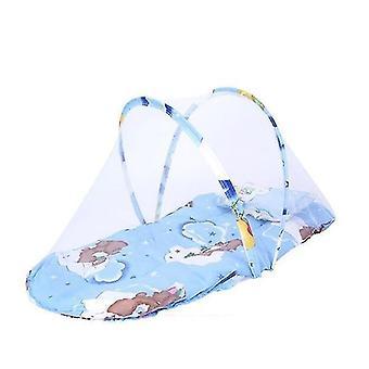 new blue 2 baby bedding crib netting folding baby mosquito nets sm20612