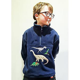 Lasten dinosaurus laivaston fleece villapaita