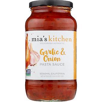 Mias Køkken Sauce Psta Grlc & Løg, Sag af 6 X 25,5 Oz