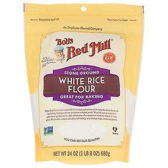 Bobs Red Mill Mjöl Vitt Ris, Fall av 4 X 24 Oz