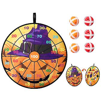 Clispeed Halloween Dart Board Set Dubbelzijdig Dart Board Met 6 Sticky Balls Fun Indoor Outdoor Dart Board Game Set Voor Halloween Party