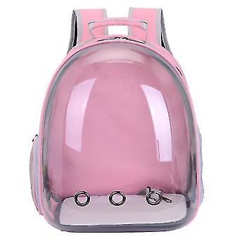 Cat Carrier Backpack,Space Capsule Knapsack Pet Travel Bag Waterproof Breathable(Pink)