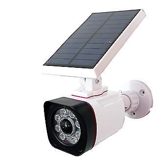Solar Sensor Garden Lights Simulation Surveillance Camera Street Lamp