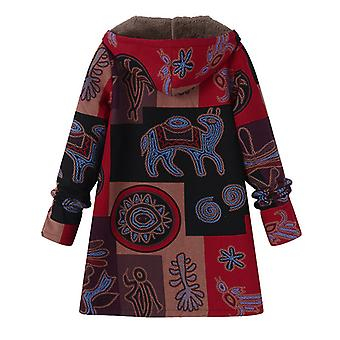 Women Winter Jacket With Hood Size: L, Red