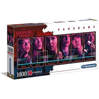 Clementoni Stranger Things Panorama Puzzle de haute qualité (1000 pièces)