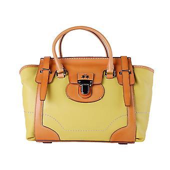 Yellow orange handbag