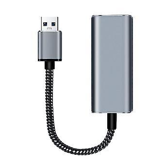 USB C USB C إلى محول شبكة الاتصال المحلية RJ45 ل MacBook برو سامسونج غالاكسي USB إيثرنت| محاور USB (أسود)