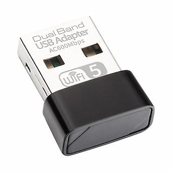 USB WiFi Adapter 600Mbps Wifi Antenne PC Netwerkkaart Dual Band 2.4+5.8Ghz usb Lan Ethernet Ontvanger