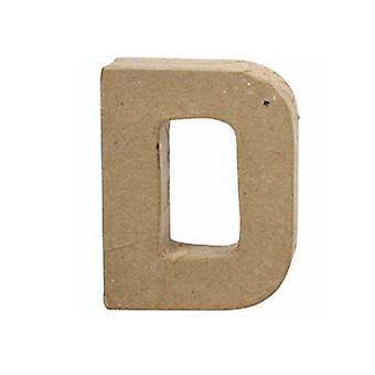 VIIMEISET MUUTAMAT - 10cm pieni paperi mache kirje D | Papier Mache -muodot