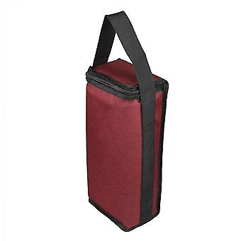 Huacreate Portable Wine Two Compartment Insulation Bag Two Bottle Red Wine Insulation