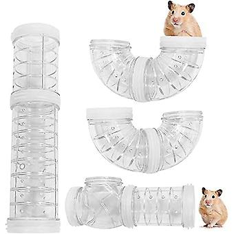 Hamster Tube Tunnel Toy, Varied Diy Game Module For Mouse Toy Exercise Hamster External Connection Tunnel For Hamster Sports White Caliber 5.5