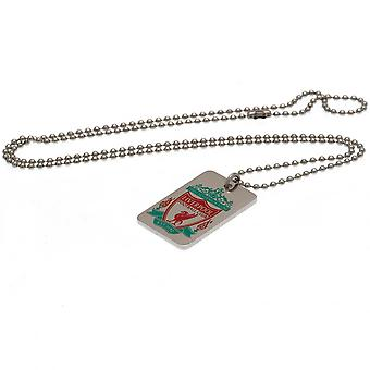 Liverpool FC Emaille Crest Dog Tag & Chain Officieel gelicentieerd product