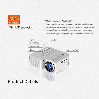 Uc28b Mini Portable Led Projector 1080p Hd Family Cinema Support Pc Laptop