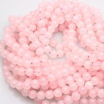 Rose Quartz Beads, Charm Gemstone Beads Dazzling Round Shape Crystal Opal Beads For Women Female Jewelry Making, 1 Strands (rose Quartz, 8mm)