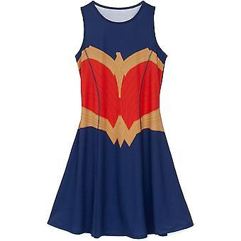 Wonder Woman Womens/Ladies Skater Costume Dress