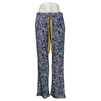 Maidenform المرأة الأزهار طباعة الصوف بيجامة السراويل الزرقاء 631063