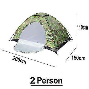 2 شخص المحمولة التخييم خيمة التمويه في الهواء الطلق التخييم الأسرة خيمة التخييم قدرة كبيرة