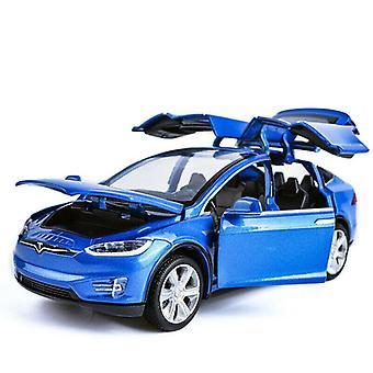 1:32 Tesla Model X 90D SUV Model Car Kids Gift Blue