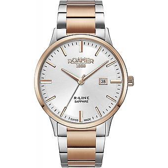 Roamer 718833-47-15-70 Men's R-Line Two Tone Steel Bracelet Wristwatch