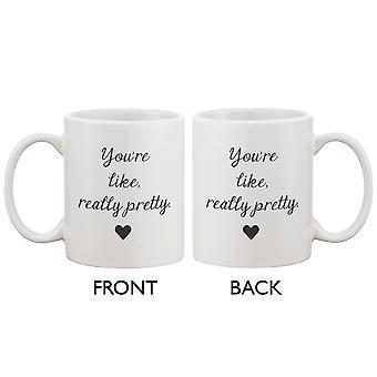 Je bent als, echt mooi koffie mok - kalligrafie ontwerpen 11 oz mok Cup