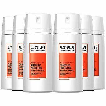 6 X Lynx Torr Anti-Perspirant Deodorant Body Spray150Ml - Adrenalin