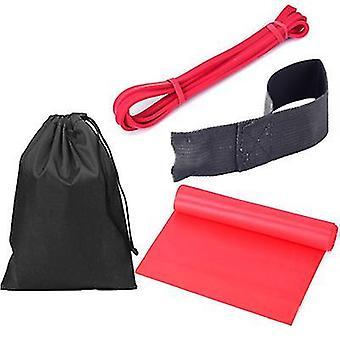 4pcs 2080 Fitness Training Widerstandskreis, Yoga Spannungsband (Rot)