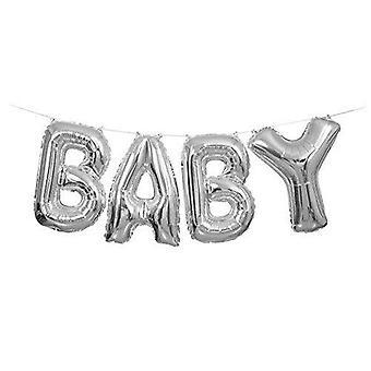 53676 - Silberfolie Baby Brief Ballon Banner Kit