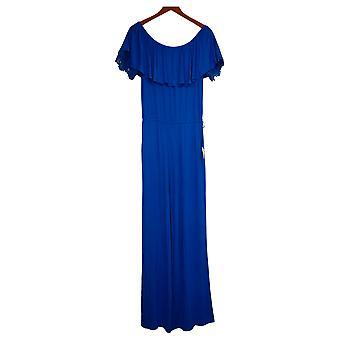 Colleen Lopez Jumpsuits Off-The-Shoulder Lace Detail One-Piece Blue 696397