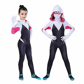 Dívky Spiderman Cosplay Jumpsuit Hoodie Party