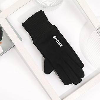 The New Korean Touch Screen Five Fingers Female Winter Thick Warm Simple Student Gloves