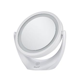 Miroir de maquillage double face rotatif Usb360 degré