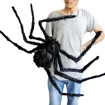 1 Piece Of 30 Cm Black And Multi-color Steel Plush Spider Plush Toy, Suitable For Party Or Halloween Decoration