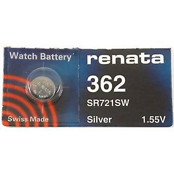 Renata 362 Watch Battery 362 - Pack of 10 (SR721SW)