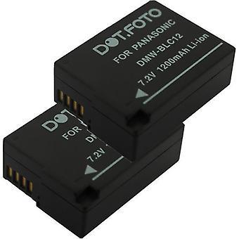 2 x Dot.Foto Panasonic DMW-BLC12, DMW-BLC12E batteri - 7.2V / 1200mAh