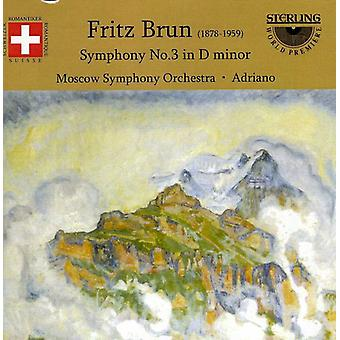 F. Brun - Fritz Brun: Symphony No. 3 in D Minor [CD] USA import